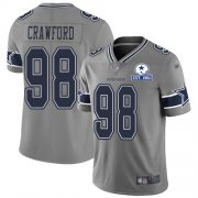 Wholesale Cheap Nike Cowboys #98 Tyrone Crawford Gray Men's Stitched With Established In 1960 Patch NFL Limited Inverted Legend Jersey