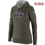 Wholesale Cheap Women's Nike Tennessee Titans Heart & Soul Pullover Hoodie Dark Grey