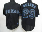 Wholesale Rangers #29 Adrian Beltre Black Fashion Stitched Baseball Jersey