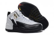 Wholesale Cheap Air Jordan 12 Retro Taxi Womens Shoes White/black-taxi