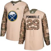 Wholesale Cheap Adidas Sabres #29 Jason Pominville Camo Authentic 2017 Veterans Day Youth Stitched NHL Jersey