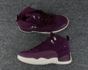 Wholesale Cheap Air Jordan 12 Retro Bordeaux Purple/White-Tan