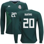 Wholesale Cheap Mexico #20 Duenas Home Long Sleeves Soccer Country Jersey