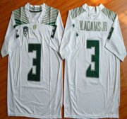 Wholesale Cheap Oregon Duck #3 Vernon Adams Jr White College Football Nike Limited Jersey