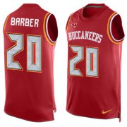 Wholesale Cheap Nike Buccaneers #20 Ronde Barber Red Team Color Men's Stitched NFL Limited Tank Top Jersey