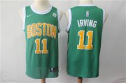 Wholesale Cheap Boston Celtics 11 Kyrie Irving Nike Green 2018-19 Swingman Earned Edition Jersey