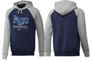 Wholesale Cheap Tampa Bay Rays Pullover Hoodie Dark Blue & Grey