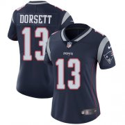 Wholesale Cheap Nike Patriots #13 Phillip Dorsett Navy Blue Team Color Women's Stitched NFL Vapor Untouchable Limited Jersey