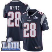 Wholesale Cheap Nike Patriots #28 James White Navy Blue Team Color Super Bowl LIII Bound Youth Stitched NFL Vapor Untouchable Limited Jersey