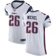 Wholesale Cheap Nike Patriots #26 Sony Michel White Men's Stitched NFL Vapor Untouchable Elite Jersey