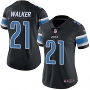 Wholesale Cheap Nike Lions #21 Tracy Walker Black Women's Stitched NFL Limited Rush Jersey