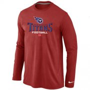 Wholesale Cheap Nike Tennessee Titans Critical Victory Long Sleeve T-Shirt Red