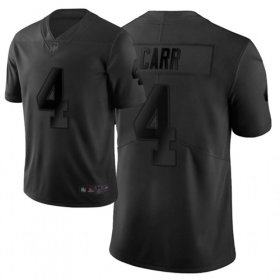 Wholesale Cheap Nike Raiders #4 Derek Carr Black Men\'s Stitched NFL Limited City Edition Jersey