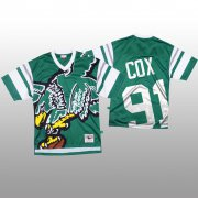 Wholesale Cheap NFL Philadelphia Eagles #91 Fletcher Cox Green Men's Mitchell & Nell Big Face Fashion Limited NFL Jersey