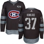Wholesale Cheap Adidas Canadiens #37 Keith Kinkaid Black 1917-2017 100th Anniversary Stitched NHL Jersey
