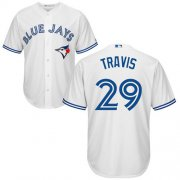 Wholesale Cheap Blue Jays #29 Devon Travis White Cool Base Stitched Youth MLB Jersey