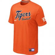 Wholesale Cheap Detroit Tigers Nike Short Sleeve Practice MLB T-Shirt Orange