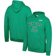 Wholesale Cheap New York Jets Mitchell & Ness Team History Pullover Hoodie Green