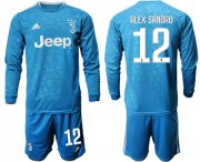 Wholesale Cheap Juventus #12 Alex Sandro Third Long Sleeves Soccer Club Jersey