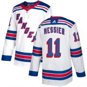 Wholesale Cheap Adidas Rangers #11 Mark Messier White Road Authentic Stitched Youth NHL Jersey
