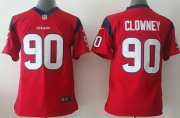 Wholesale Cheap Nike Texans #90 Jadeveon Clowney Red Alternate Youth Stitched NFL Elite Jersey
