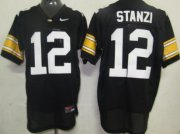 Wholesale Cheap Iowa Hawkeyes #12 Ricky Stanzi Black Jersey