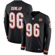 Wholesale Cheap Nike Bengals #96 Carlos Dunlap Black Team Color Men's Stitched NFL Limited Therma Long Sleeve Jersey