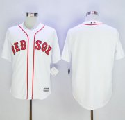 Wholesale Cheap Red Sox Blank White Alternate Home New Cool Base Stitched MLB Jersey