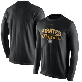 Wholesale Cheap Pittsburgh Pirates Nike Practice Long Sleeve T-Shirt Black