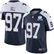 Wholesale Cheap Nike Cowboys #97 Trysten Hill Navy Blue Thanksgiving Men's Stitched With Established In 1960 Patch NFL Vapor Untouchable Limited Throwback Jersey