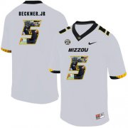 Wholesale Cheap Missouri Tigers 5 Terry Beckner Jr. White Nike Fashion College Football Jersey