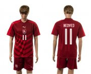 Wholesale Cheap Czech #11 Nedevd Red Home Soccer Country Jersey