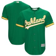 Wholesale Cheap Men's Oakland Blank Athletics Majestic Kelly Green Cool Base Team Jersey