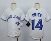 Wholesale Cheap Blue Jays #14 David Price White Cool Base Stitched Youth MLB Jersey