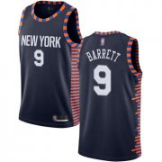 Wholesale Cheap Knicks #9 R.J. Barrett Navy Basketball Swingman City Edition 2018-19 Jersey