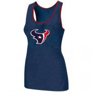Wholesale Cheap Women's Nike Houston Texans Big Logo Tri-Blend Racerback Stretch Tank Top Blue