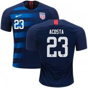 Wholesale Cheap Women's USA #23 Acosta Away Soccer Country Jersey