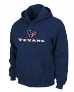 Wholesale Cheap Houston Texans Authentic Logo Pullover Hoodie Dark Blue