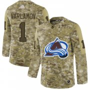 Wholesale Cheap Adidas Avalanche #1 Semyon Varlamov Camo Authentic Stitched NHL Jersey