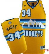 Wholesale Cheap Denver Nuggets #34 JaVale McGee Yellow Swingman Jersey