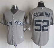 Wholesale Cheap Yankees #52 C.C. Sabathia Grey New Cool Base Stitched MLB Jersey