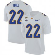 Wholesale Cheap Pittsburgh Panthers 22 Darrin Hall White 150th Anniversary Patch Nike College Football Jersey
