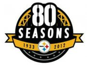 Wholesale Cheap Stitched Pittsburgh Steelers 80th Anniversary Jersey Patch