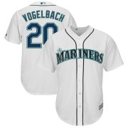 Wholesale Cheap Seattle Mariners #20 Dan Vogelbach Majestic Home Cool Base Replica Player Jersey White