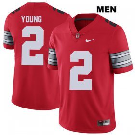 Wholesale Cheap Mens Ohio State Buckeyes 2018 Spring Game Authentic #2 Chase Young Nike Red College Football Jersey