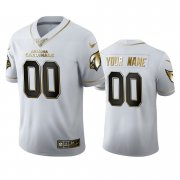 Wholesale Cheap Arizona Cardinals Custom Men's Nike White Golden Edition Vapor Limited NFL 100 Jersey