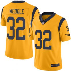 Wholesale Cheap Nike Rams #32 Eric Weddle Gold Men\'s Stitched NFL Limited Rush Jersey
