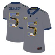Wholesale Cheap West Virginia Mountaineers 5 Chris Chugunov Gray Fashion College Football Jersey
