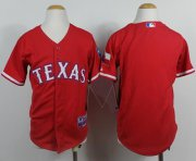 Wholesale Cheap Rangers Blank Red Cool Base Stitched Youth MLB Jersey