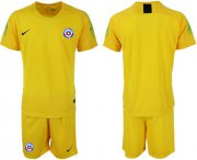 Wholesale Cheap Chile Blank Yellow Goalkeeper Soccer Country Jersey